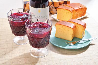 自園自醸ワイン紫波 ワインケーキ・ぶどうジュース詰合せ SWCB【0004173】