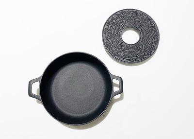 岩鋳 南部鉄器すき焼き鍋 15cm 釜敷松葉セット【0020218】