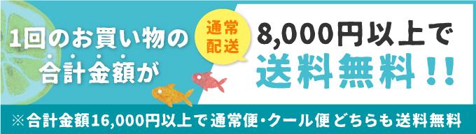 8,000円以上で送料無料!合計金額16,000円以上で通常便・クール便送料無料