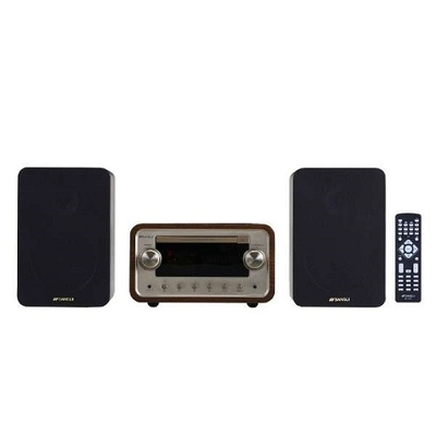 〔送料無料〕SANSUI 真空管ハイブリッドCDステレオシステム SMC-300BT [ワイドFM対応 /Bluetooth対応]
