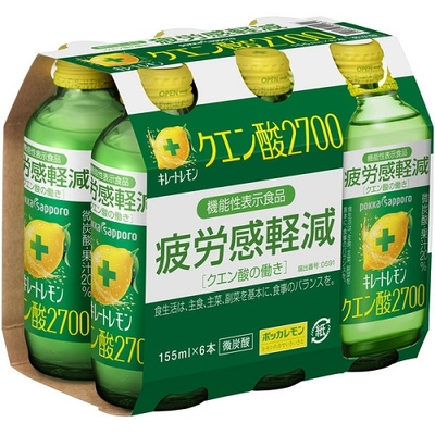 【機能性表示食品】キレートレモンクエン酸2700 155ml 1パック(6本入)