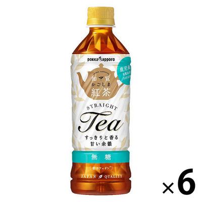 ポッカサッポロフード&ビバレッジ かごしま知覧紅茶無糖 500ml×6本