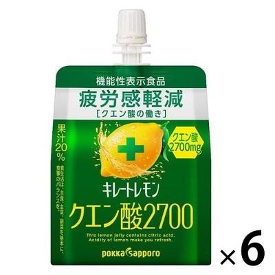【機能性表示食品】キレートレモンクエン酸2700ゼリー 165g×6個