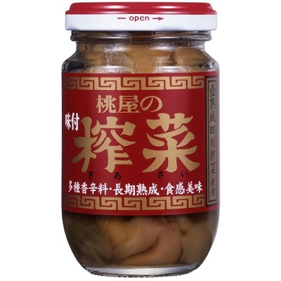 桃屋の味付搾菜(ザーサイ) 100g