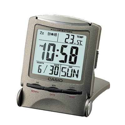 CASIO(カシオ) 目覚まし時計日付・温度計表示/ELバックライト(残照機能付き)/PQ-50J-8