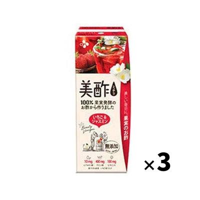 CJジャパン プティチェル 美酢(ミチョ) いちご&ジャスミン 200ml 紙パック×3本