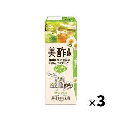 CJジャパン プティチェル 美酢(ミチョ) アップル&カモミール 200ml 紙パック×3本
