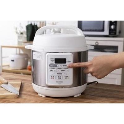 〔送料無料〕〔直送〕アイリスオーヤマ 電気圧力鍋 3.0L 使いやすい時短 レシピ 12種類自動メニュー搭載  PC-EMA3-W(ホワイト)