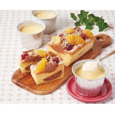 〔送料無料〕〔直送〕【父の日ギフト】北海道生パウンドケーキ&焼きプリンセット
