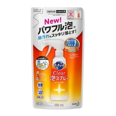 花王 キュキュット CLEAR泡スプレー オレンジの香り つめかえ用 250ml
