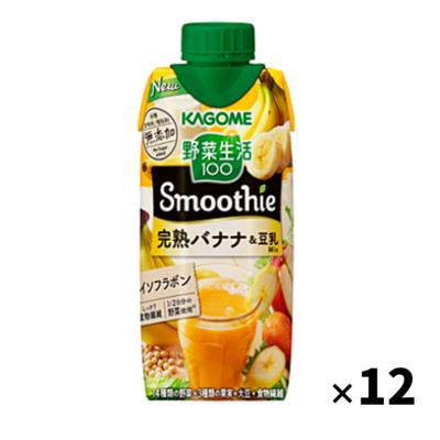カゴメ 野菜生活100 Smoothie 完熟バナナ&豆乳Mix 330ml 1箱(12本入)