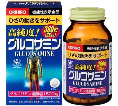 オリヒロ 高純度グルコサミン粒 360粒  【セール対象】