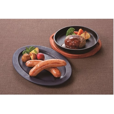〔送料無料〕〔直送〕【2021夏ギフト】松阪牛入りハンバーグとお肉屋さんのウインナー (667)