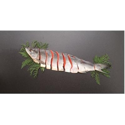 〔送料無料〕〔直送〕【2021夏ギフト】知床産 新巻鮭半身 (854)