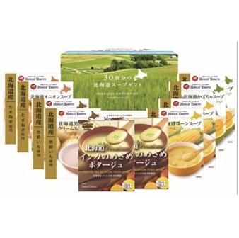 〔送料無料〕〔直送〕【2021夏ギフト】北海大和 北海道スープ30食(5種×各6食) (148)