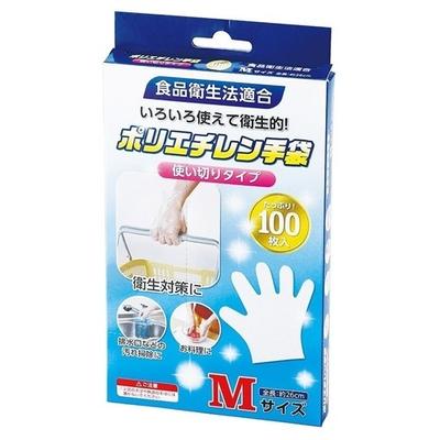 ★アクティー ポリエチレン手袋 Mサイズ 100枚  【ポイント10%還元】