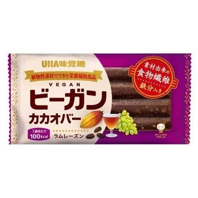 UHA味覚糖 ビーガンカカオバー ラムレーズン 26.5g