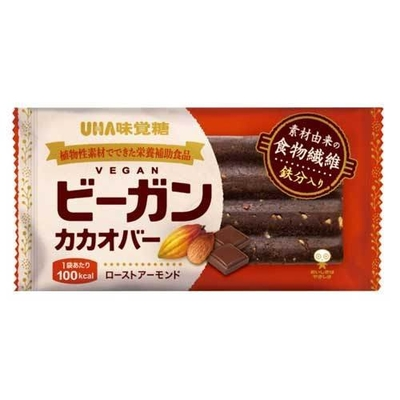 UHA味覚糖 ビーガンカカオバー ローストアーモンド 25.4g