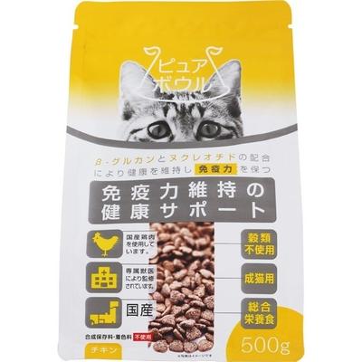 ペットライブラリー ピュアボウル 免疫力維持の健康サポート 成猫用500g