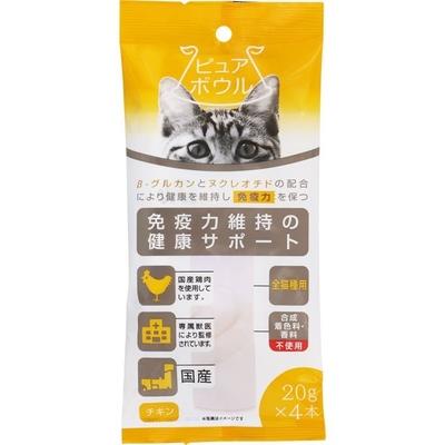 ペットライブラリー ピュアボウル 免疫力維持の健康サポート 全猫種用20g×4