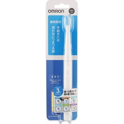オムロンヘルスケア 音波式電動歯ブラシ乾電池式 歯垢除去 HT-B220-W