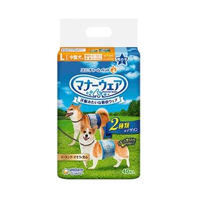 犬用 マナーパンツ ユニチャーム マナーウェア 男の子用 Lサイズ 40枚  【セール対象】
