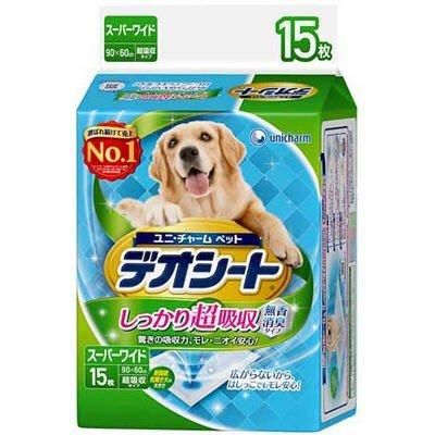ペット用品 犬 ユニチャーム デオシート スーパーワイド 15枚
