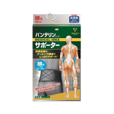 バンテリンコーワサポーター 腰用 大きめ ブラック  【セール対象】