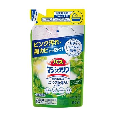 バスマジックリン 泡立ちスプレー SUPER CLEAN グリーンハーブの香り つめかえ用 330ml