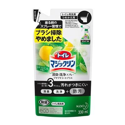 トイレマジックリン 消臭・洗浄スプレー ツヤツヤコートプラス シトラスミントの香り つめかえ用 330ml