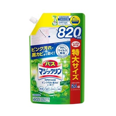 バスマジックリン 泡立ちスプレー SUPER CLEAN グリーンハーブの香り つめかえ用 820ml