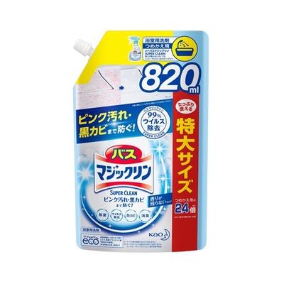 バスマジックリン 泡立ちスプレー SUPER CLEAN 香りが残らないタイプ つめかえ用 820ml