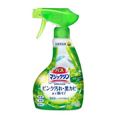 バスマジックリン 泡立ちスプレー SUPER CLEAN グリーンハーブの香り 本体 380ml
