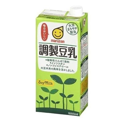 マルサン 調製豆乳 1000ml × 6本 ケース
