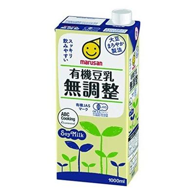 マルサン 有機豆乳 無調整 1000ml × 6本 ケース