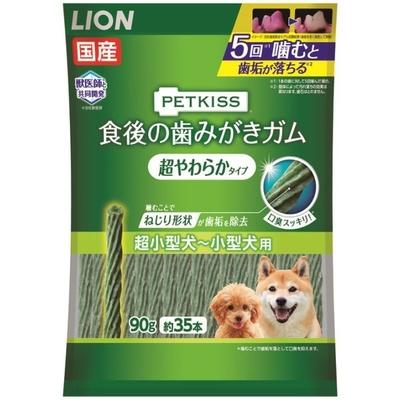 ペットキッス 食後の歯みがきガム 超やわらかタイプ 超小~小型犬用 国産 90g