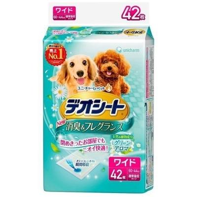 ペット用品 犬 ユニチャーム デオシート グリーンアロマ ワイド 42枚