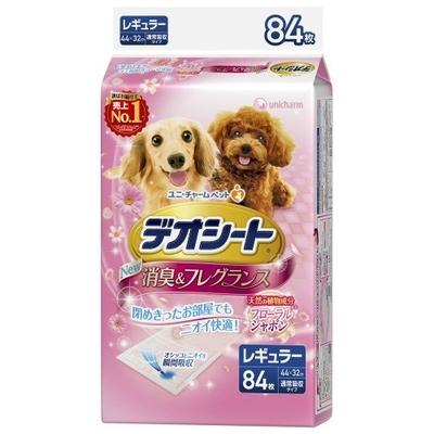 ペット用品 犬 ユニチャーム デオシート フローラル レギュラー 84枚