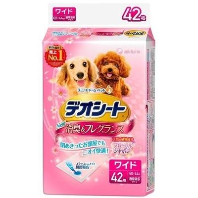 ペット用品 犬 ユニチャーム デオシート フローラル ワイド 42枚