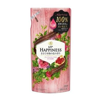 レノアハピネス 柔軟剤 ナチュラルフレグランス プレミアムフローラル&ざくろの香り 詰め替え 400mL