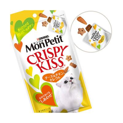 モンプチ クリスピーキッス キャットフード チーズ&チキンセレクト 30g