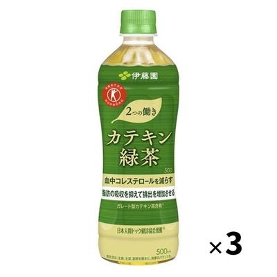 伊藤園 2つの働き カテキン緑茶 500ml×3本