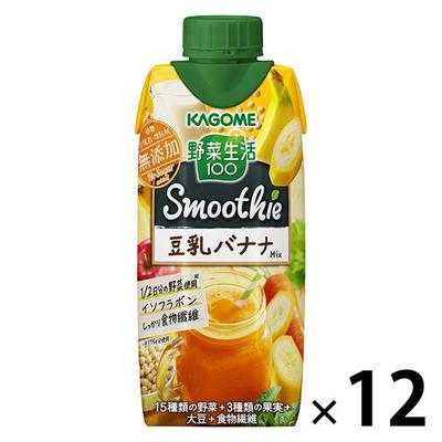 カゴメ 野菜生活100 豆乳バナナミックス 330ml 1箱(12本入)