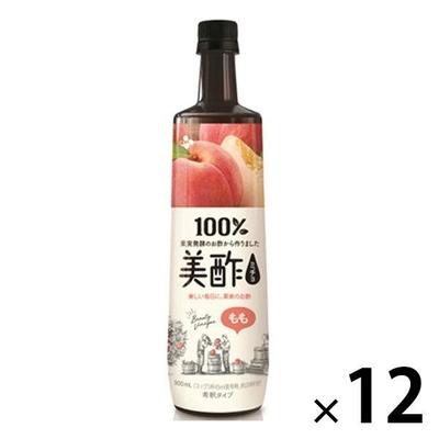〔送料無料〕 CJジャパン プティチェル美酢(ミチョ) もも 900ml ボトル 12本入  【ポイント10%還元】