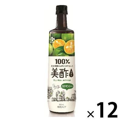 〔送料無料〕 CJジャパン 美酢(ミチョ) カラマンシー 900ml ボトル 12本入  【ポイント10%還元】