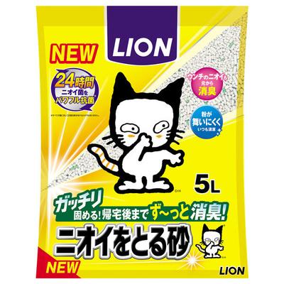 猫砂 ニオイをとる砂 国産 5L 1袋