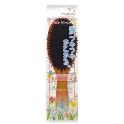 マペペ つやつや天然毛のミックス ブラシ