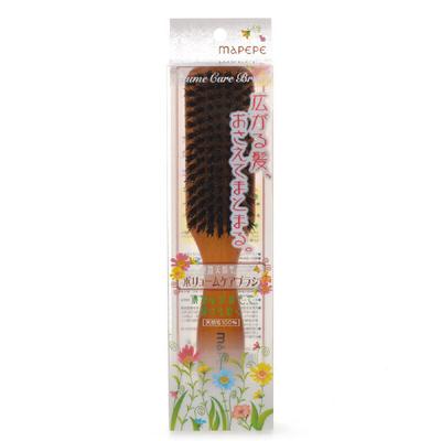 マペペ 濃密天然毛のボリュームケア ブラシ