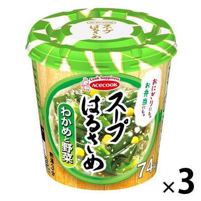 エースコック スープはるさめ わかめと野菜 21g 3個