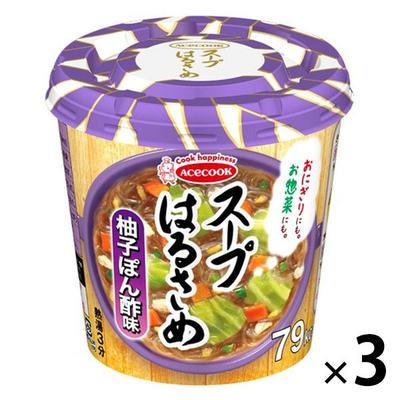 エースコック スープはるさめ 柚子ぽん酢 32g 3個